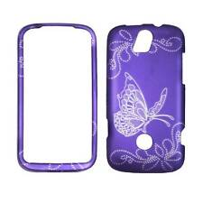 For  Huawie My Touch Q U8730 Grey Butterfly Purple Plane Case Hard Phone Cover