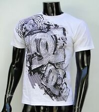 Dc shoes Usa Skateboard Co. White All Drwa Logo Mens t shirt Small
