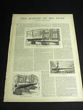 In-depth Article by Henry Loomis Nelson MAKING BIG GUNS CANONS  1890 w Prints