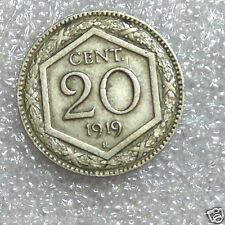 1919~~ITALY Kingdom~~20 CENTESIMI~~ Ruler:Vittorio Emanuele III~~Collectors Coin