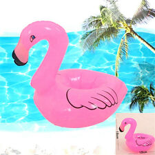 1 x New Cute Red Flamingo Floating Inflatable Drink Can Holder Pool Bath Toy