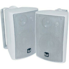Pair Dual 4'' LU43PW 3Way Waterproof Box Boat Home Outdoor Indoor Speaker System