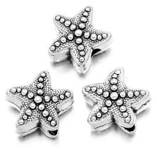 50pcs ON SALE Tibetan Silver Starfish Shape Charms Alloy Spacer Beads Findings J