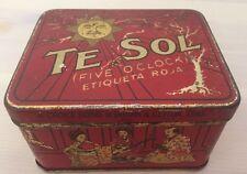 Wunderschöne alte Blechdose/Teedose, Te Sol, ca. 9,5x7,5x5,5cm