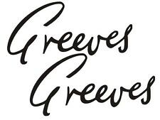 Greeves Tank Transfers Decals Motorcycle DGRE12 Various Colours Available