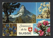 Multiviews of Swiss Mountain Flowers. Stamp/Postmark - 1974.