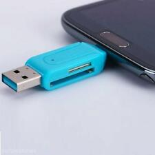 USB 2.0 + TF/Micro SD/SD to Micro USB Universal Card Reader Adapter Flash Memory