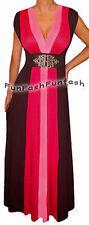 BC1 FUNFASH PINK BLACK COLOR BLOCK LONG MAXI COCKTAIL DRESS Plus Size 1X XL 16