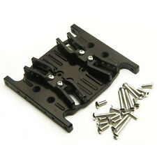 Alum Alloy Gear Box Bottom Base Mount Middle Center Skid Plate For SCX10 RC Car