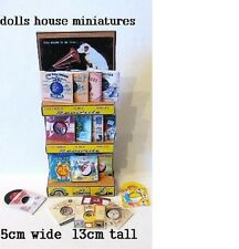 FLOOR STANDING SHOP DISPLAY  GRAMAPHONE RECORDS  DOLLS HOUSE MINIATURE