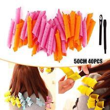 40 PCS 50CM Curl DIY Hair Curlers Tool Spiral Circle Magic Styling Rollers