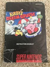 Kirby's Dream Course Kirbys Super Nintendo SNES Instruction Manual Only