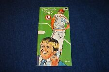 ST. LOUIS CARDINALS 1982 MEDIA GUIDE (WB815)