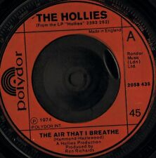 """THE HOLLIES the air that i breathe/no more riders 2058 435 uk 1974 7"""" VG/"""