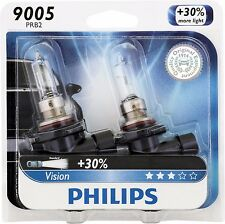 Philips 9005 Vision Upgrade 30% More Bright Headlight Light Bulb (Pack of 2)
