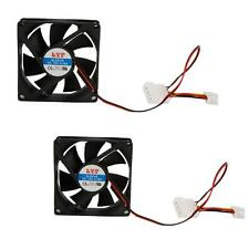 Lot 2PCS New 80mm IDE Chassis Fan Cooling for Computer PC Host 4 Pins