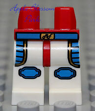 NEW Lego Boy/Girl Minifig WHITE LEGS w/DareDevil Red Gold Blue Patch Worker Belt