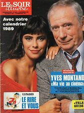 LE SOIR illustré N°2946 yves montand mathilda may 1988