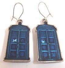 Doctor Who Tardis Orecchini PELTRO NUOVO di zecca grande regalo ufficiale
