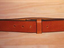 Dark Tan Leather Belt Strap 1 1/2 Inch Wide (38mm) Waist Size No Buckle Men Lady