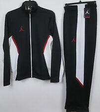 NIKE AIR JORDAN DRI-FIT WARM UP SUIT JACKET+PANTS BLACK RED NEW (SIZE 3XL / 2XL)