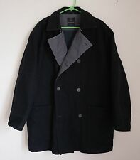 ERMENEGiLDO ZEGNA COAT - LARGE YACHTiNG Made in Italy wool/double/breasted navy