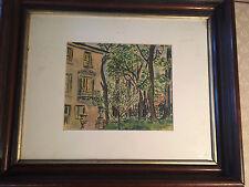 """Superb Walter Emerson Baum """"Home Exterior Landscape"""" Watercolor - Signed/Framed"""