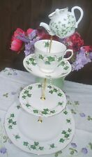 Quirky Vintage Colclough Ivy pattern mad hatter cake stand