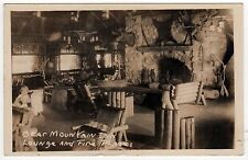 BEAR MOUNTAIN INN Interior RPPC Real Photo Postcard IONA ISLAND New York NY