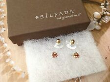 NEW Silpada Glitzy Bits Earrings Post Studs. One pair. Brass KRP0051