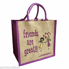 Friends are Great Jute Shopping Bag - Good Christmas Gift - FREE DELIVERY