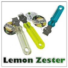 STAINLESS STEEL LEMON ZESTER LIME ORANGE CITRUS PEELER COCKTAILS SLICER KITCHEN