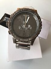 NIXON watch 51-30 CHRONO  Silver Gunmetal A083-1762 A0831762  NEW FREE SHIPPPING
