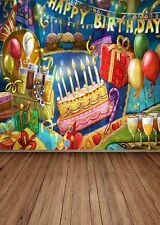 Happy Birthday 5'x7' CP Backdrop Computer printed Scenic Background ZJZ-873