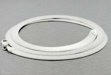 """.925 SILVER 7MM HERRINGBONE 24"""" CHAIN HIPHOP ITALY NECKLACE ASAP FLAT MENS ROSS"""