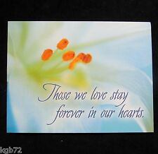 Leanin Tree Sympathy Greeting Card Funeral Multi Color Notions Series P15