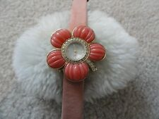 Pretty Suzanne Somers Ladies Quartz Watch with a Leather Band