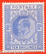SG. 319. M54 (2). 10/- Blue. A very fine UNMOUNTED MINT example.