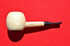 New Missouri Meerschaum Polished Morgan Corn Cob Pipe Nose Warmer 4 1/2""