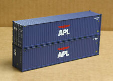 2 Walthers #8251, UPGRADED HO 40' corrugated Containers, APL