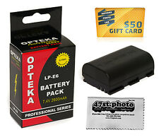 LP-E6 Lithium Battery for Canon EOS 6D 60D 7D 5D Mark II 5D Mark III Camera