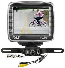 "NEW Pyle PLCM36 3.5"" Slim LCD Digital Universal Mount Monitor W/ Backup Camera"