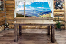 Rustic Pine Dining Room Tables Amish Made Rough Cut Lumber Furniture