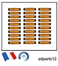 30 x 24V ORANGE LED FEUX DE GABARIT CAMION CAMPER SHASSIS REMORQUES ORANGE