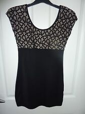 TOPSHOP Black Dress Size 8