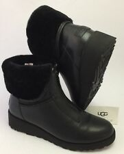 UGG CALEIGH $210 Water Resistant Leather Sheepskin Snow/ Rain Boots NEW Size 10