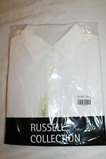 Russell Ladies white medium 3/4 sleeve Easy Care fitted shirt