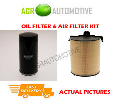 PETROL SERVICE KIT OIL AIR FILTER FOR VOLKSWAGEN GOLF PLUS 1.6 102 BHP 2009-