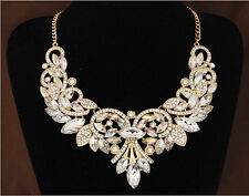 Fashion Elegant Swarovski Crystal Necklace Bib Choker Wedding Bridal Jewelry New