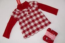 Gymboree Holiday Penguin Chalet Girls Size 2T Plaid Top Shirt Snow Leggings NWT